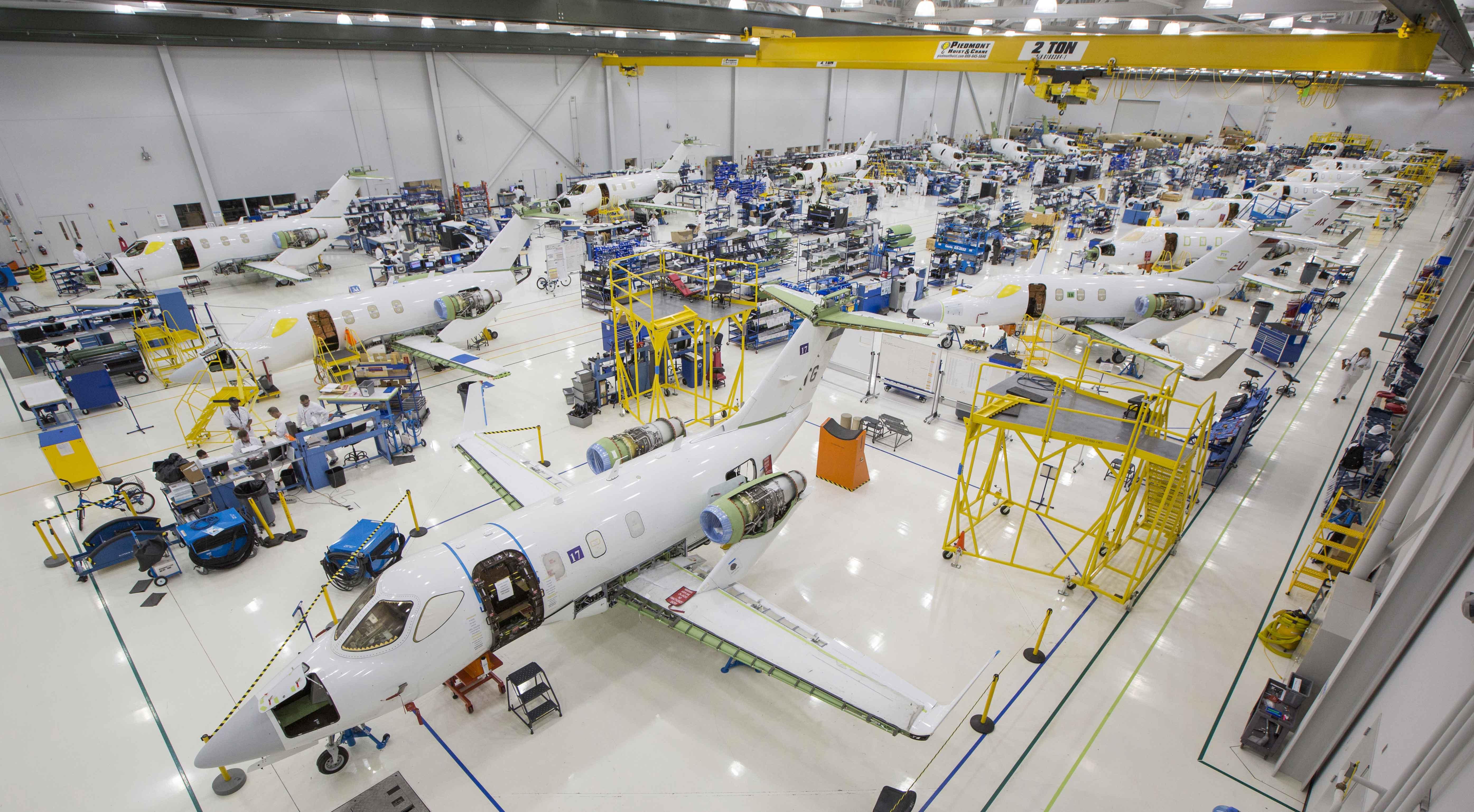 HondaJet assembly line