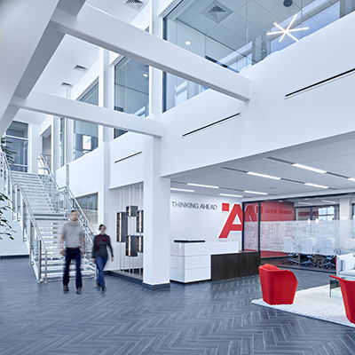 Bright modern office interior