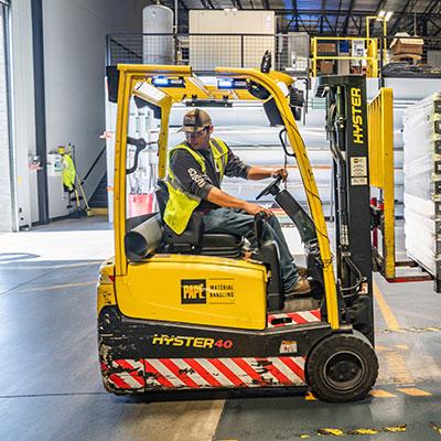 Man Reversing Forklift