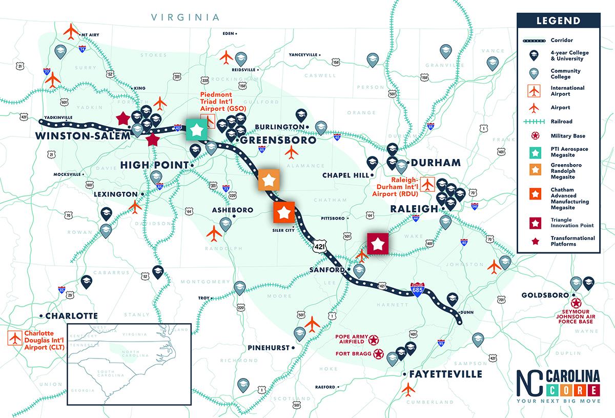Carolina Core Map